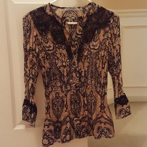 NWOT NY Collection Button down top